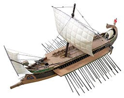 Trireme-oar-and-man-powered-boat